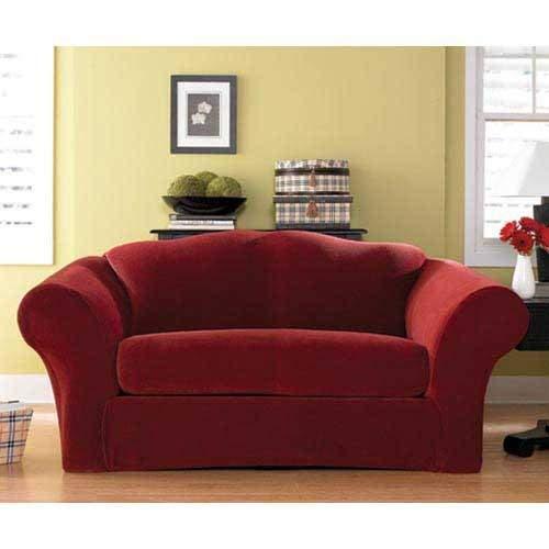 Garnet Stretch Pique 2 Piece Sofa