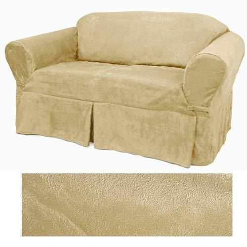 Ultra Suede Cream Furniture Slipcover Loveseat 639
