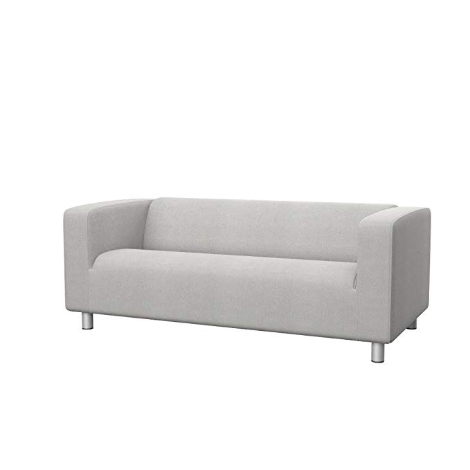 Soferia - Replacement cover for IKEA KLIPPAN 2-seat sofa, Glam Light Grey